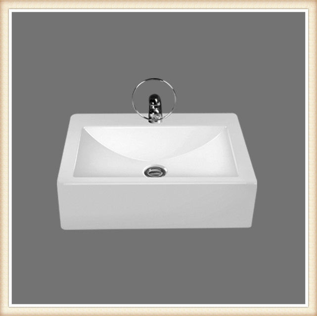 Bathroom ceramic modern square washbasin