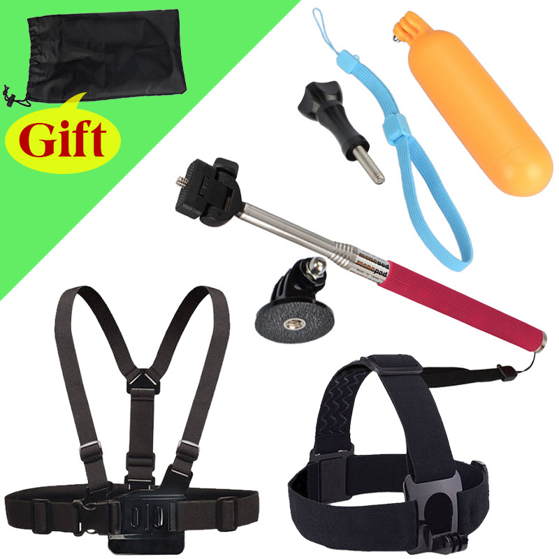 Gopro Accessories For Chest Strap And Self Selfie Stick Handheld Monopod And