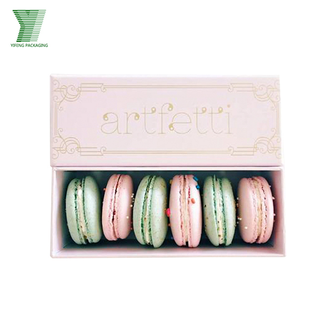 Cardboard Custom Made Personal Logo Food Cookies Packaging Macarons Box