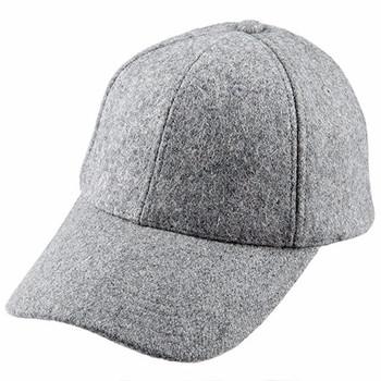 High-end Blank Hat Wool Hats 6-panel Plain Wool Baseball Cap - Buy ... d39b83d75c8