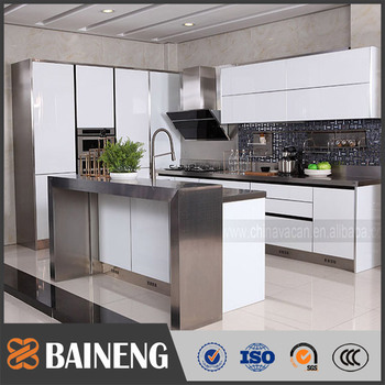 High Quality High Gloss Commercial Kitchen Cabinet From Guangzhou Kitchen Cabinet Supplier With Good Price View Kitchen Cabinet Supplier Baineng
