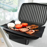 Korean BBQ Grill Mat Non-Stick Baking Heavy Duty FDA Approved Electric Gas Grill Cover Microwave Oven Liner high aluminium