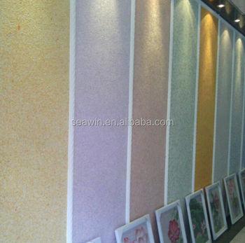 Faser Dekor Seide Gips Wandbeschichtung Wandverkleidung Innen