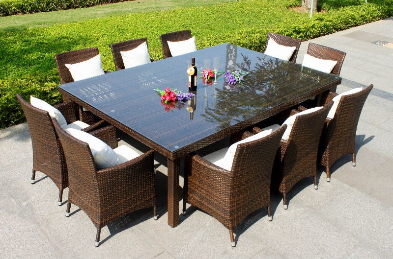 10 Person Luxury Dining Table Buy Outdoor Furniture Product On