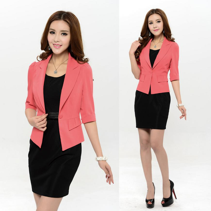 1dad30a84bb Get Quotations · New 2015 Spring Formal Women s Suits Blazer with Dress  Plus Size Ladies Office Suits Work Wear