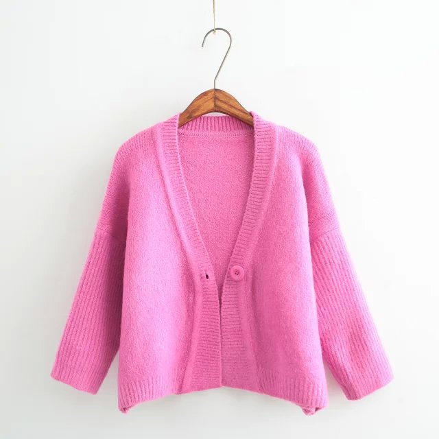 2adf49434d Get Quotations · 2015 Autumn New Korean Version Small Cardigan Single  Button Knit Cardigan Women Solid Color Knitted Cardigan