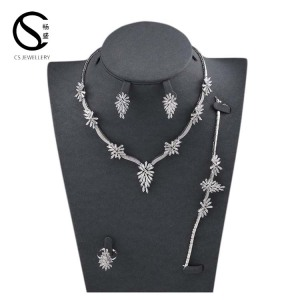 E-7478 CS Stable quality Fashionable earrings and necklace sets big synthetic jewelry set for ladies