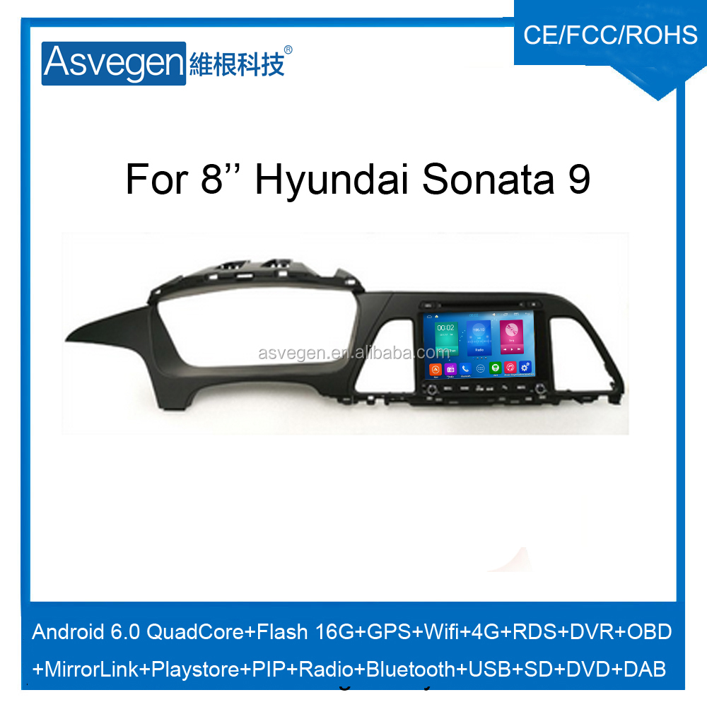 Wholesale Android Car DVD Player For 8'' Hyundai Sonata 9 Navigation Car DVD GPS Support Playstore,4G,WIFI