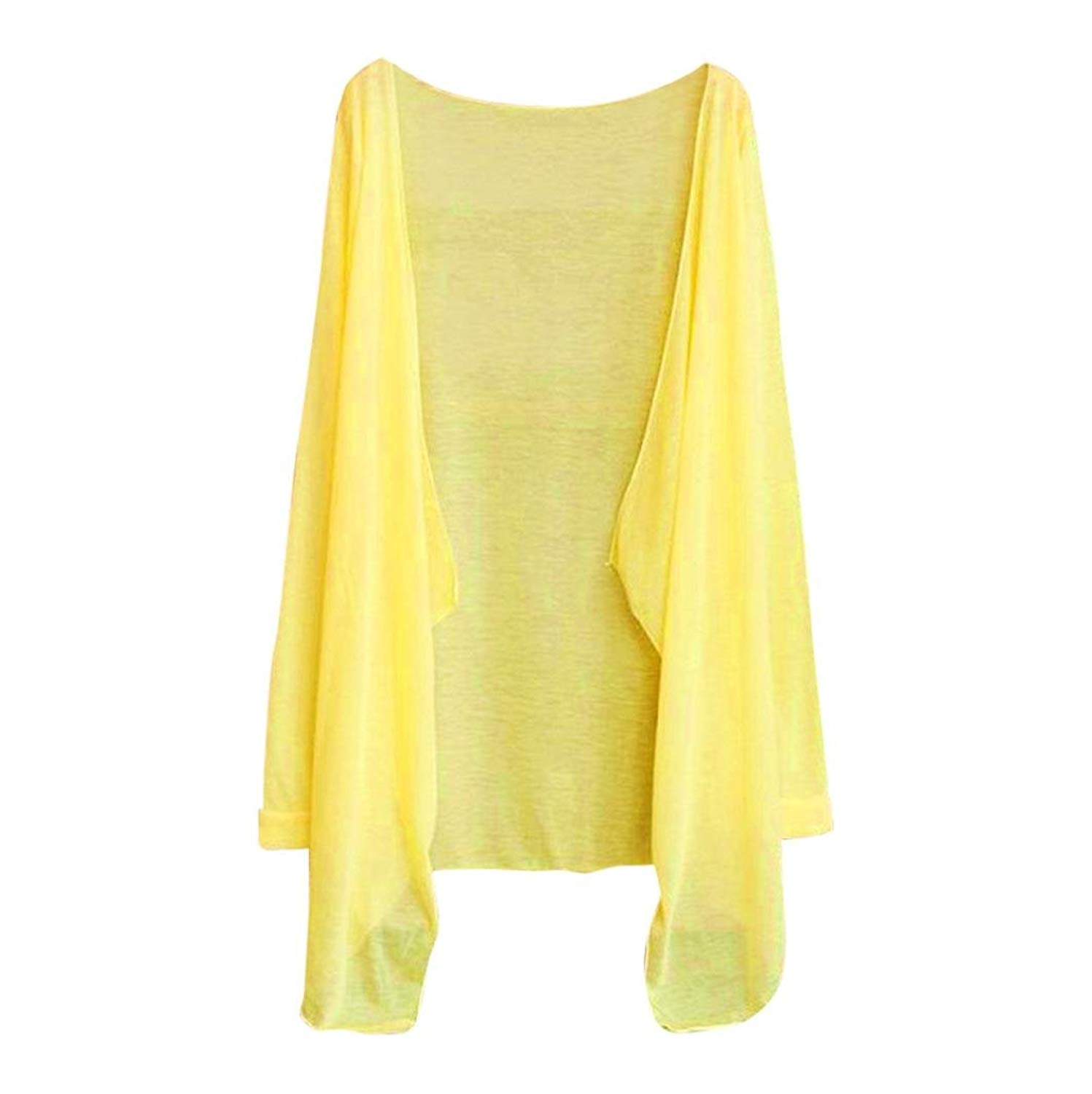 Women Summer Long Thin Cardigan Modal Soft Sun Protection Clothing Tops Outwear