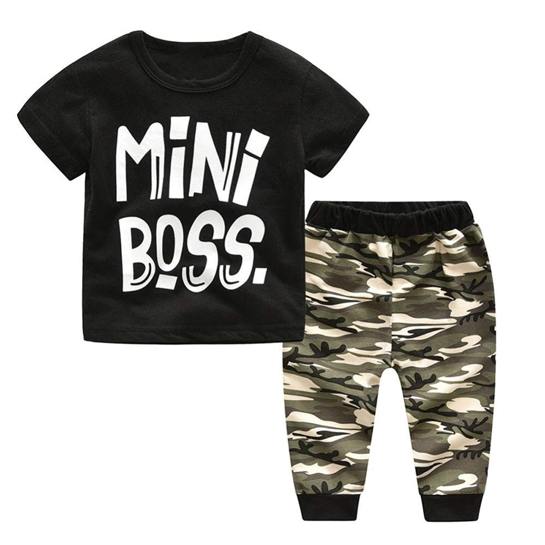 81e67328b328 Get Quotations · NOMENI Kids Clothes Boys-2018 Kids T Shirt Tops+Camouflage  Pants Outfits Set