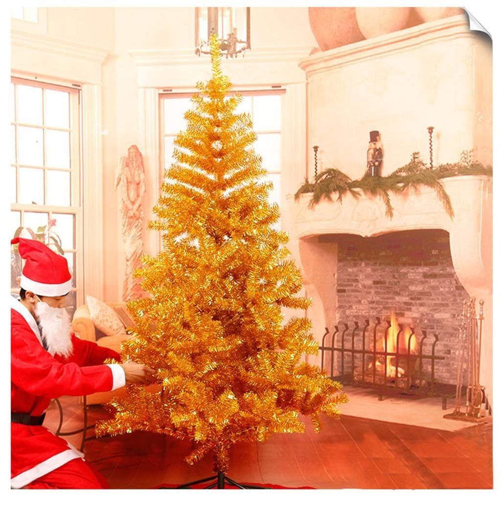 World- DIY Christmas Decorations Gold Gold 1.5 M Christmas Tree Decorated With 400 Luxurious Bare Bare Christmas Trees