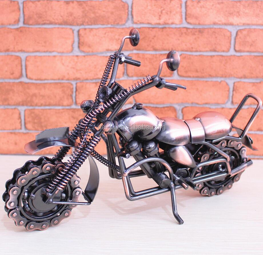 Galvanized Wire Motorcycle Elephant Metal Crafts