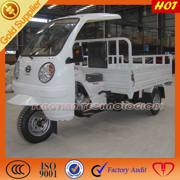 new cargo three wheel tricycle with side doors and windows from China/high quality three wheel tricycle