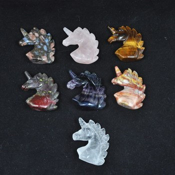 Factory price wholesale unicorns Animal Carving Healing Gemstone Quartz