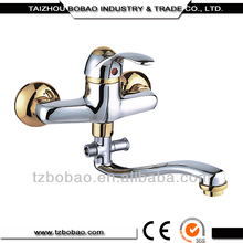 New Design Wall Mounted Bathroom Sinks With Two Faucets