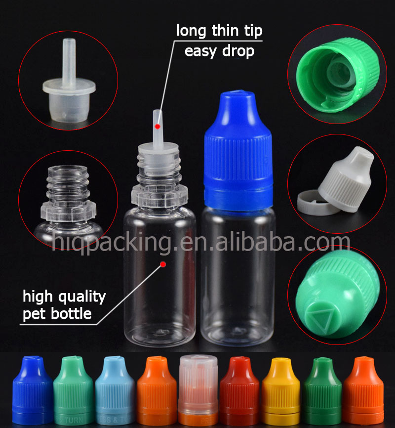 large stock 10ml 15ml clear plastic dropper bottle long thin tip 30ml 50ml 60ml pet eliquid bottle with seal cap