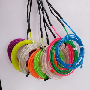 high brightness battery powered 12v el neon flex rope light with different color