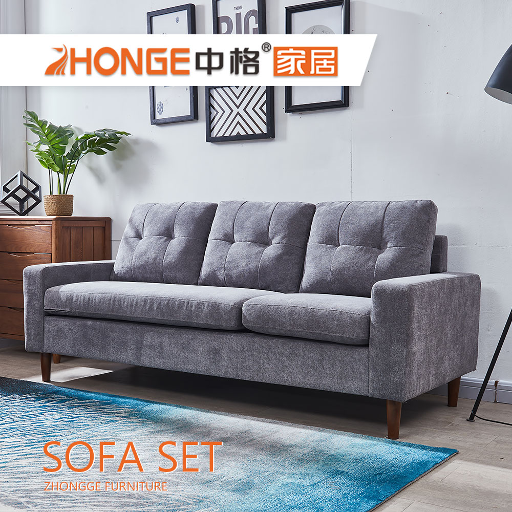 Simple Style Living Room Wooden Leg Furniture Gray Designs 3 Seater Grey  Color Fabric Sofa - Buy Living Room Wooden Leg Furniture Sofa Designs,Gray  ...
