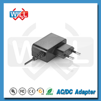 CE GS ROHS Approved 12V 1a wall mounted power adapter