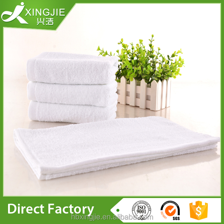 custom luxury 100% cotton plain white airline towel from China hebei