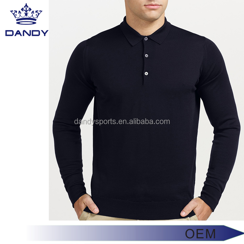 long sleeve golf polo shirt with pocket ,dry fit t shirt polo men