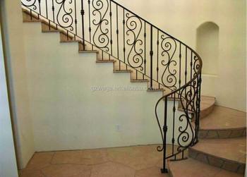 Gietijzeren sprial trappen het huis indoor trapleuningen ontwerp