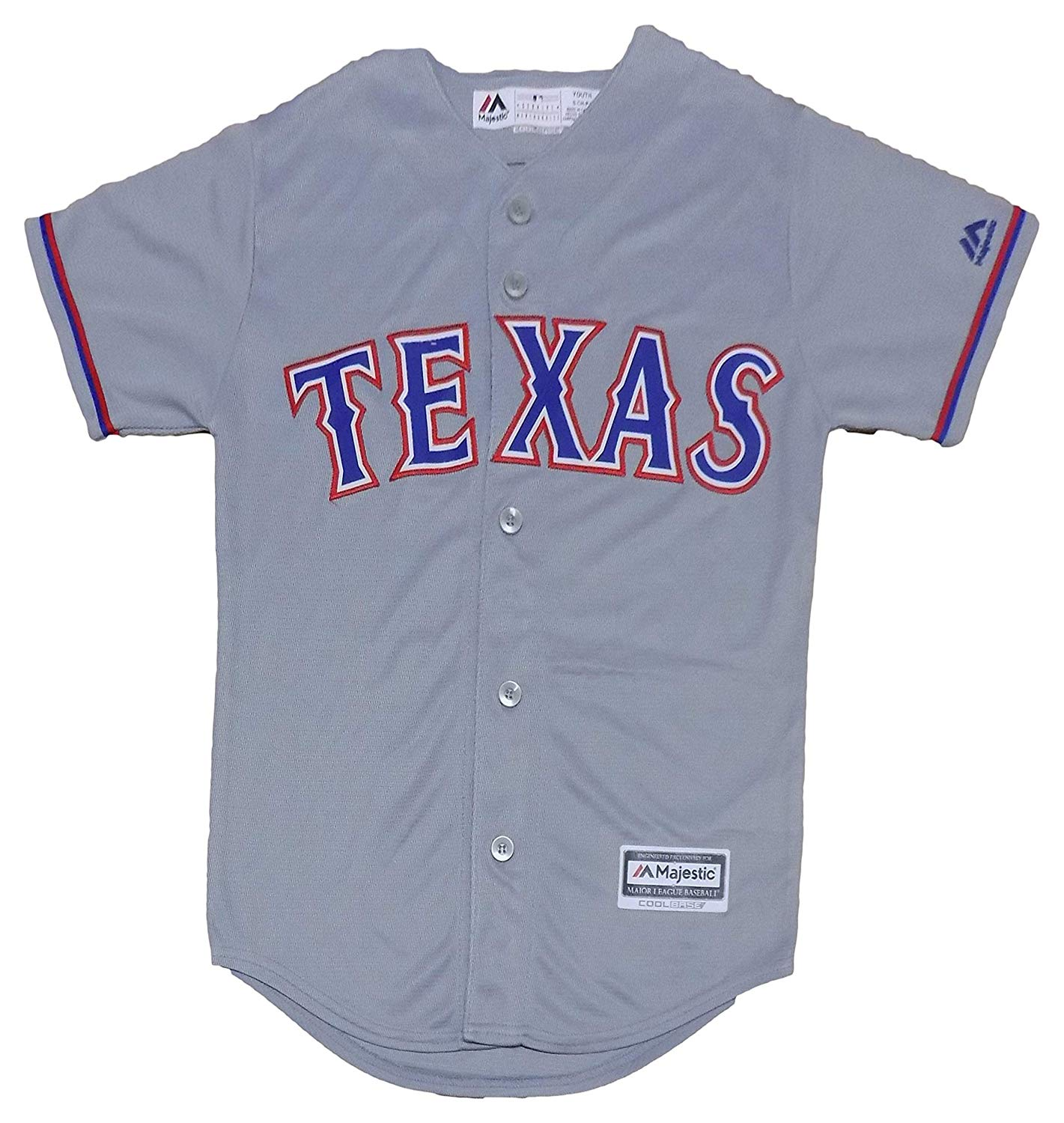 4a67ff8bb Get Quotations · Outerstuff Texas Rangers Blank Gray Youth Cool Base Road  Jersey