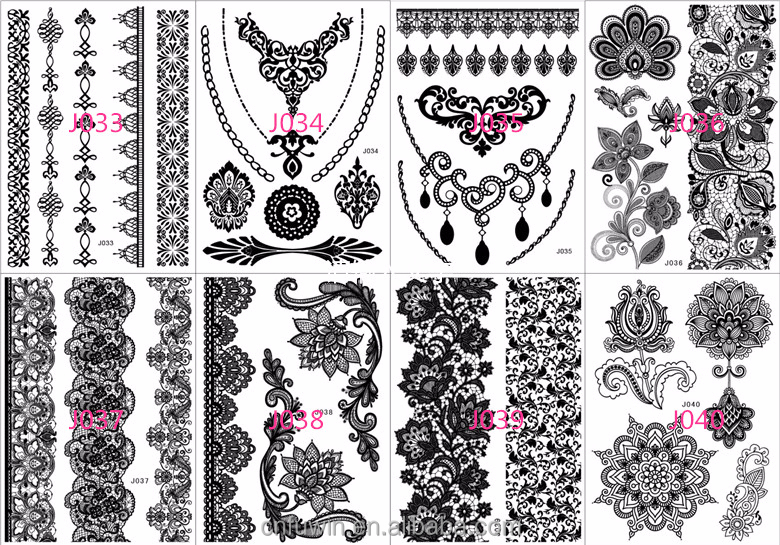 2015 nuovo tatuaggio adesivo disegni dei monili braccialetto nero henn stencil tatuaggio. Black Bedroom Furniture Sets. Home Design Ideas