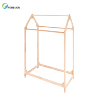 Nordic Wind Children'S Clothing Store Solid Wood In The Island Frame Small House Hangers Parallel Bars Display Shelves