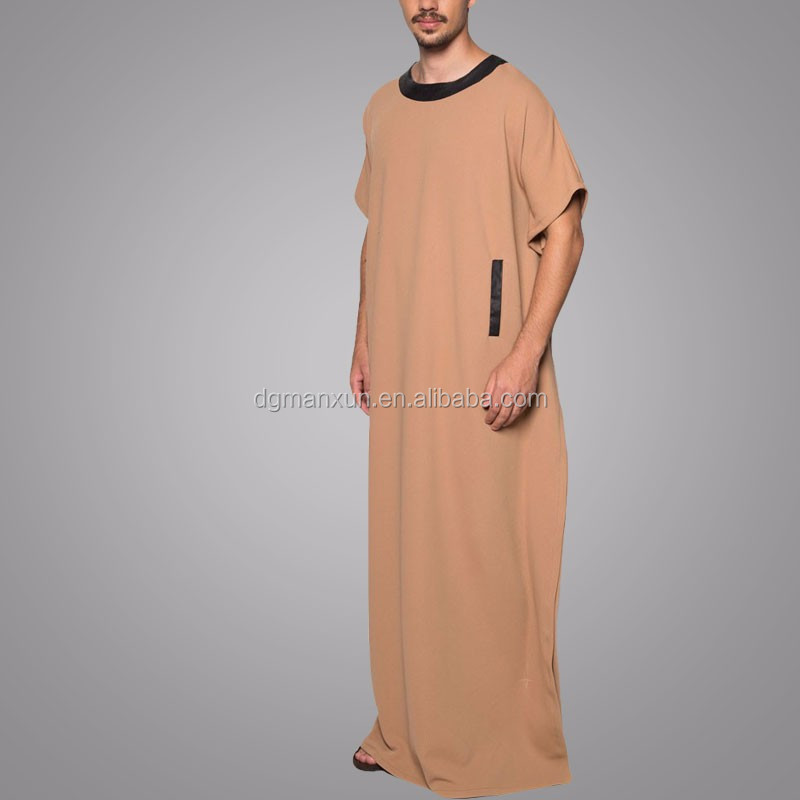 Islamic Clothing Abaya Short Sleeve Yunus Jubah Daffah Thobe Arabic Thobe/Jubba For Men