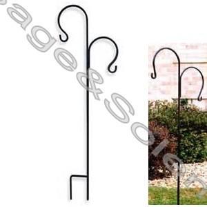Metal Garden Hanging Shepherd Hook, Wrought Iron Shepherdu0027s Hook Hanger