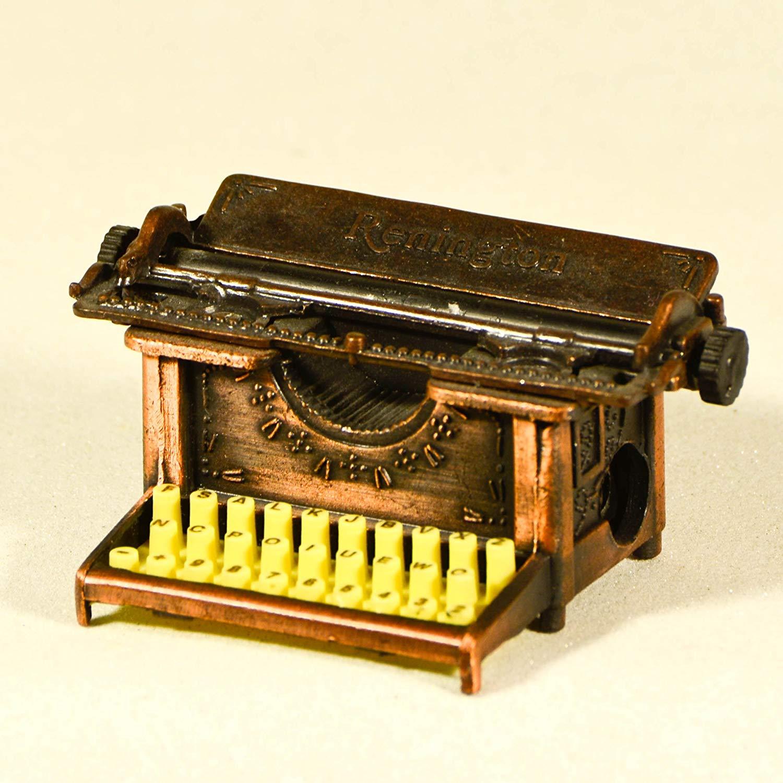 Metal Die Cast Antique Typewriter Renington Sharpener - Collectible Scale Miniature