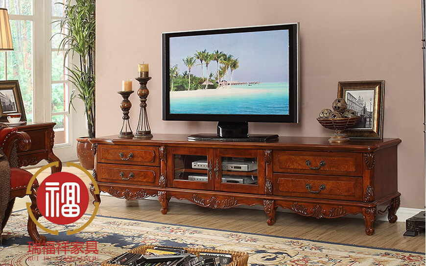 American style furniture wood tv stand for living room for American living style furniture