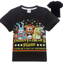 Five Nights at Freddy's FNaF Children T shirts for kids 100% Cotton Boys Clothes five nights at freddys