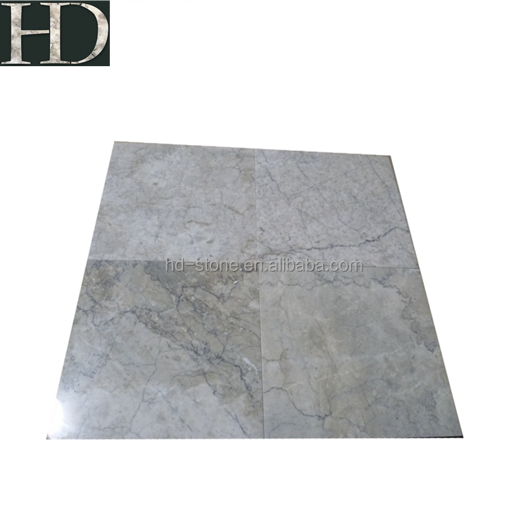 Polished Thin Marble Tile Cyan Cream