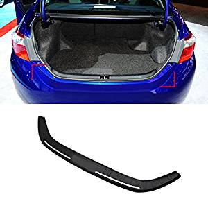 Black Rear Boot Outer Bumper Guard Sill Plate Protector For Toyota Corolla ALTIS Sedan 2014-2016