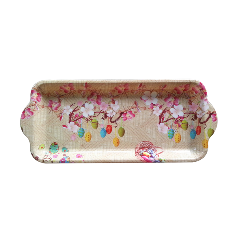 Long promotion gift rectangular plastic tray