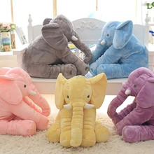 Free sample Cute Plush Colorful Elephant Soft Stuffed Wild Animal Toy With Big Ears,Pink Blue Grey elephants plush toys elephant