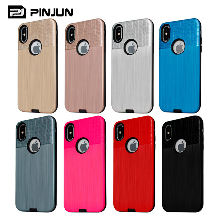 84f7e490cd Customized Cloth Texture Mobile Case for iPhoneX,Hybrid PC+TPU Back Cover  Phone Case