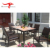 Garden Patio Furniture Outdoor Rattan Wicker Dining Table Set with 6 chairs