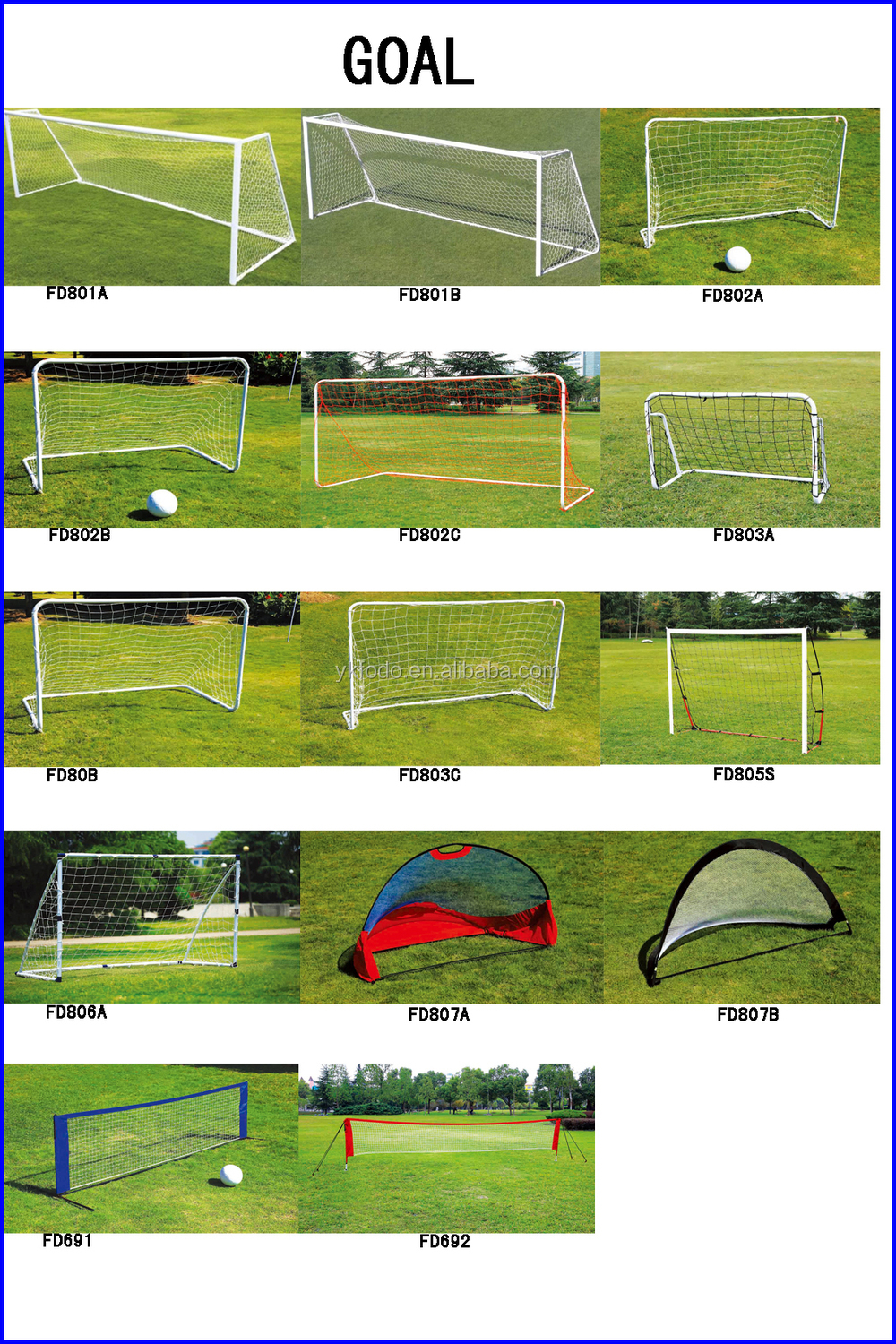 Chinese Wholesale 1x1m Foldable Rebounder Net Kids improve Soccer Goal rebounder FD808B
