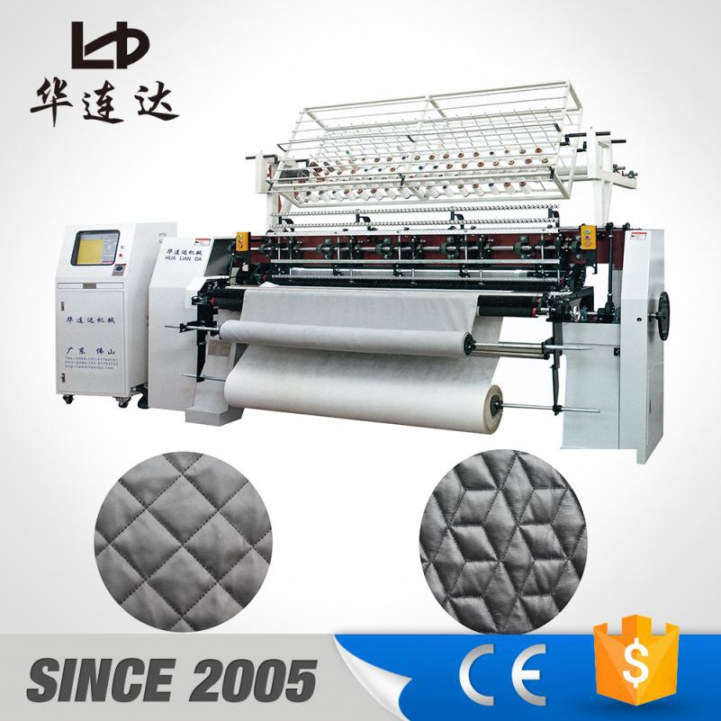 computer multi needle quilting machine, lock stich multiple mattress production machinery
