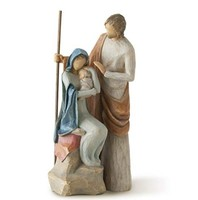 Factory Custom statue Willow Tree hand-painted sculpted figure, The Holy Family willow tree figurine