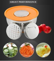 platics lid and 3pcs stainless steel mixing bowl with Graters