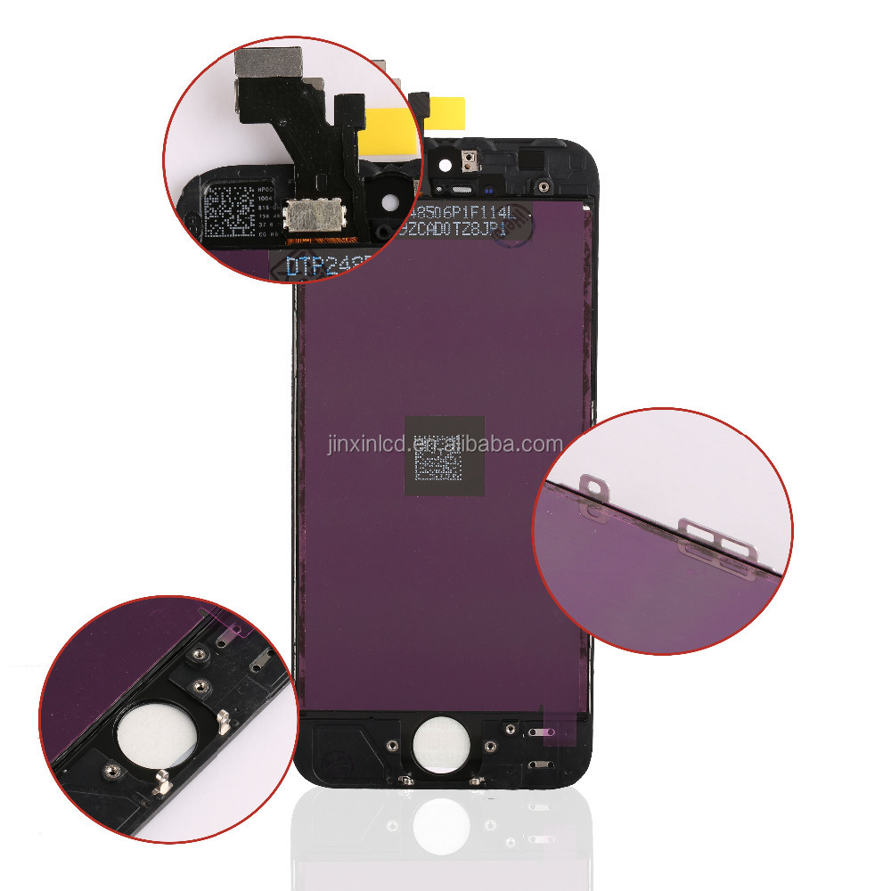 100% original digitizer assembly mobile phone lcd for iphone 5 touch screen