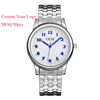 China Factory Japan Movt Stainless Steel Mens Watch Custom Dial Watch Personalized