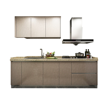 Apartment projects simple design good price customized modern kitchen cabinet