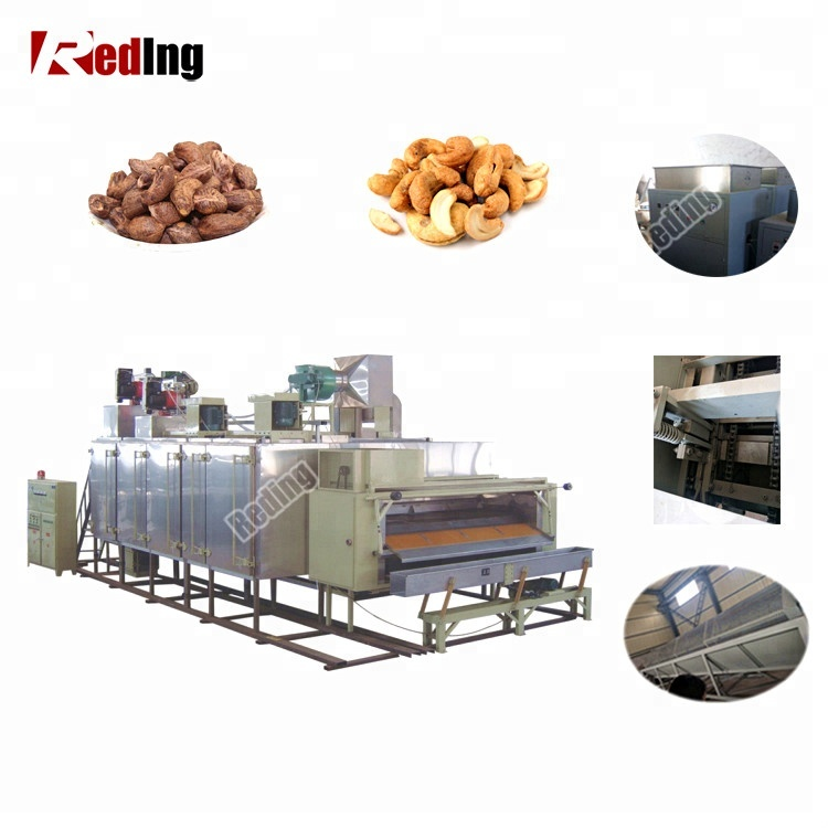 Professional Good Price Automatic Cashew Nuts Shelling Peeling Production Line Cashew Nut Processing Machine