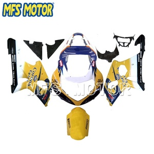 Motorcycla Part ABS Injection Fairing Kit For Suzuki GSXR 1000 2000 2001 2002 Yellow