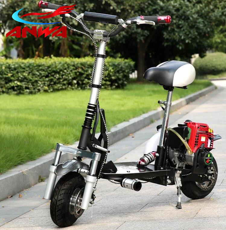 2-Speed Mini Folding 49cc 50cc Cheap Gas Scooter for Sale, 49cc Mini Gasoline Scooter